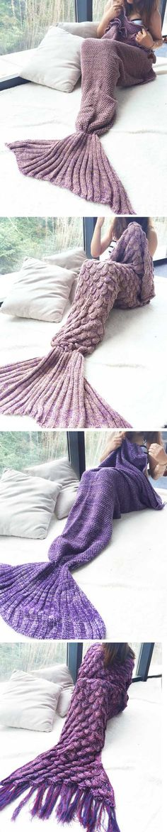 Where to buy mermaid blanket tail? NewChic offer quality mermaid blanket tail at wholesale prices. Shop cool personalized mermaid blanket tail with unbelievable discounts. Knitting Projects, Crochet Projects, Knitting Patterns, Sewing Projects, Crochet Patterns, Blanket Patterns, Crochet Designs, Diy Manta, Crochet Mermaid Blanket