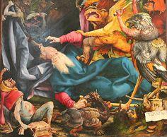 Matthias Grunewald. Isenheim Altarpiece. Torment of St. Anthony. 1512-1516. detail | by arthistory390
