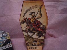 Tarot Card Coffin, Death Card Coffin, Gothic Decor, Halloween Decor, 2nd in Series by laminartz on Etsy
