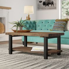 Mistana Veropeso Wood/Metal Coffee Table - UNUSED Retail Price: Condition: Open Box - Like New Condition Details: There is signs of. Solid Wood Coffee Table, Coffee Table With Storage, Coffee Tables, Table Storage, Wine Storage, Console Table, Side Chairs, Dining Chairs, Dining Set
