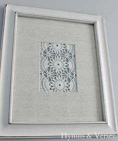 You are going to see how quick and easy it is to create Vintage Doily Wall Art…