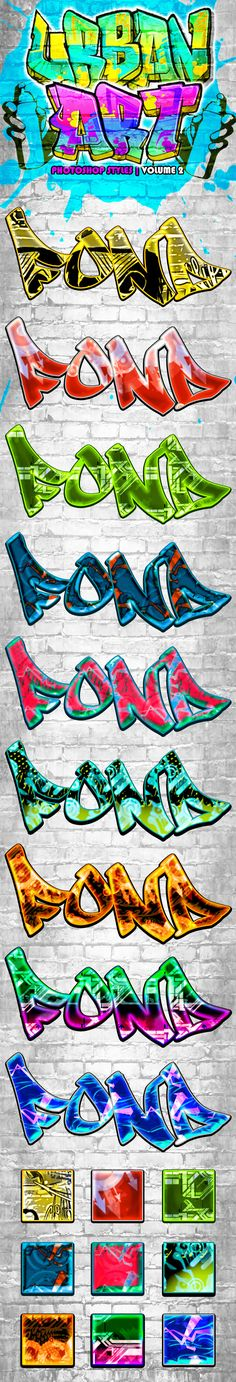 Urban Art Graffiti Styles Volume 2 — Layered PSD #culture #effect • Available here → https://graphicriver.net/item/urban-art-graffiti-styles-volume-2/6583021?ref=pxcr