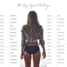 30 Day Squat Challenge | Sexy Butt & Leg Workouts