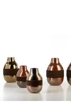 Double with Cork #ceramics #homelivingceramics #cork #metal #gold #homeaccessories #interiordesign   www.arfaigm.com