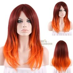 Long-50cm-Wavy-Orange-Mixed-Red-Ombre-Fashion-Hair-Wig-Heat-Resistant