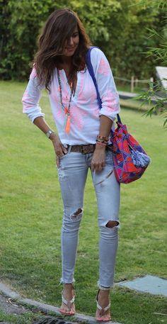 Fashion Line, Boho Fashion, Womens Fashion, Fashion Trends, Black Leggings Outfit, Denim Outfit, Hot Outfits, Fashion Outfits, Look Boho