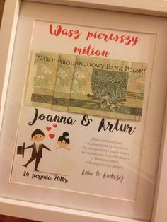Baby Frame, Diy Gifts For Friends, Newlywed Gifts, Party Items, Diy Birthday, Birthday Gifts, Diy Art, Wedding Details, Wedding Ideas