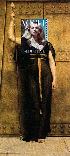 The Seductive Priestess Kate Upton, Vogue Italia November 2012 + The Priestess, John William Godward