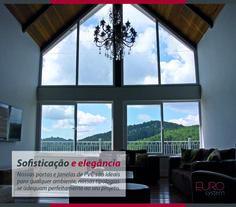 Nossas portas e janelas de PVC são ideais para qualquer ambiente, nossas tipologias se adequam perfeitamente ao seu projeto.  Esquadrias Eurosystem, soluções inteligentes para seu projeto. #Eurosystem #SoluçõesInteligentesParaSeuProjeto #EsquadriasdePvc #PorqueSeuProjetoMereceoMelhor