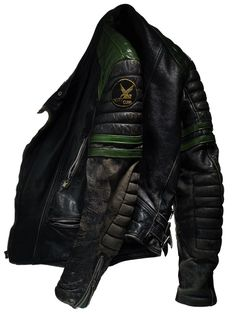 worn leather motorcycle jacket from DavidLewis Taylor