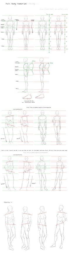 full body tutorial by nominee84.deviantart.com on @deviantART ** Nice! :D