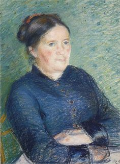 camille pissarro(1830-1903), portrait of madame pissarro, 1883. pastel. private collection http://www.the-athenaeum.org/art/detail.php?ID=12504