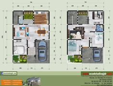 Desain Rumah Bapak Joko di Lahan 10 x 20 Meter - Jasa Desain Rumah Joko, Townhouse, Architecture Design, House Plans, Projects To Try, Floor Plans, House Design, Flooring, How To Plan