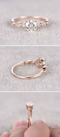Moissanite in Rose Gold Engagement Ring www.pinterest.com… More