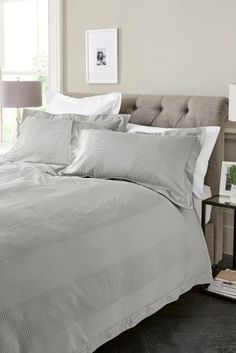 Sumptuous bedding sets for a cosy feel. Create a beautiful bedroom with single, double and king bed sets. Linen Bedroom, Linen Bedding, Bedding Sets, Bedroom Furniture, Home Furniture, Bed Linen, Linen Shop, Buy Bed