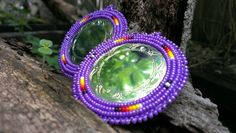 Purple Native American Contemporary Beaded Earrings