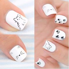 white nails with kittens Cat Nail Designs 20182019 Cat Nail Art Mani white nails with kittens Cat Nail Designs 20182019 Cat Nail Art Mani White Nail Art, White Nails, Pink Nails, White Toes, Cat Nail Designs, White Nail Designs, Nails Design, Cat Nail Art, Cat Nails