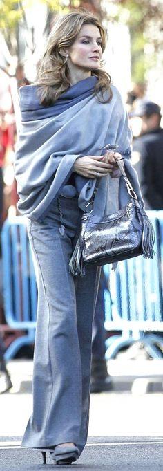 blue-grey cashmere shawl wrap