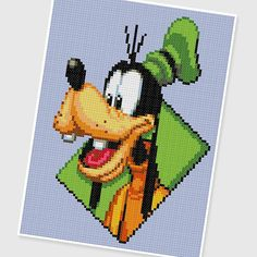 PDF Cross Stitch pattern : 0241.Goofy by PIXcross