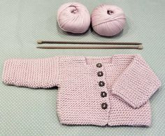 Baby Cardigan Making erzählt und illustriert - Farbe Site Baby Knitting Patterns, Knitting For Kids, Baby Patterns, Crochet Patterns, Baby Cardigan, Cardigan Bebe, Knit Cardigan, Toddler Sweater, Knit Baby Sweaters