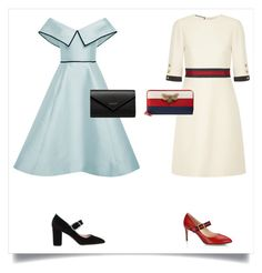 """Two Classic Dresses"" by audreymind ❤ liked on Polyvore featuring Elizabeth Kennedy, Gucci, SJP and Balenciaga"