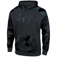 Los Angeles Dodgers Majestic Big & Tall Pullover Hoodie - Camo/Black - $70.00