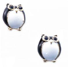 "Cercei ""Black owls"" - Meli Melo - Paris- owls earrings Black And White Owl, Meli Melo, Owl Earrings, Owls, Gemstone Rings, Gemstones, Paris, Stuff To Buy, Jewelry"