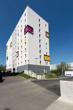 Résidence étudiante Excelys - Saint-Herblain (44)  © Ecliptique / Laurent Thion