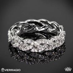 braided ring | verragio-wed-4023-eternal-braid-diamond-wedding-ring-in-18k-white-gold ...