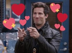 Jake Peralta (Andy Samberg) - Brooklyn nine-nine 99 Andy Samberg, Jake Peralta, Ironic Memes, Brooklyn Nine Nine, Wholesome Memes, Meme Faces, Love Memes, Reaction Pictures, Guys And Girls