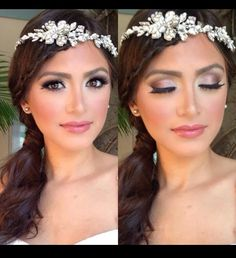 19 Trendy Ideas Wedding Day Makeup Asian Make Up Asian Wedding Makeup, Wedding Day Makeup, Bridal Makeup Looks, Bride Makeup, Beauty Makeup, Hair Makeup, Hair Beauty, Makeup Forever, Makeup Inspiration