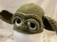 Yoda crochet hat. Check out my latest creation.