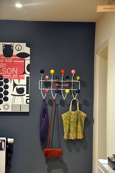Hang it all coat rack: Charles Eames Wall Colors, House Colors, 1950s Living Room, Grey Hallway, Dream Furniture, Hallway Designs, Home And Deco, Interior Exterior, Interior Design Inspiration