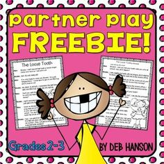 FREE partner play for and graders! This is a perfect fluency-building activity to add to your Daily 5 reading centers! Reading Fluency Activities, Fluency Practice, Reading Strategies, Teaching Reading, Guided Reading Groups, Comprehension Strategies, Reading Skills, Reading Comprehension, Reading Stations