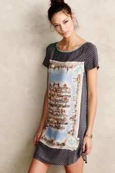 Around Town Silk Tee Dress - anthropologie.com || $158