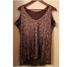 Flowy Sequin Top Off shoulder style. Brand new condition. Worn for a couple hours. Tops Blouses