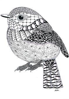 simple zentangle animals - Google Search