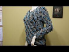 Aprende a Tejer Bellísimo Suéter Crochet / Clase Magistral en Video   Crochet y Dos agujas