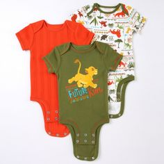 "Disney Cuddly Bodysuit™ - The Lion King ""Future King"" 3-Pack"