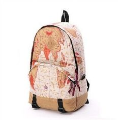 Scrawl Print Unique Backpack Cool Travel School Bag