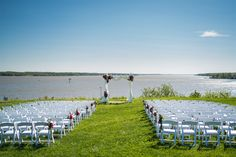 Clair and Steve could not ask for a more beautiful day for an outdoors wedding ceremony. Fuller Photography