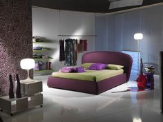 Modern Purple and Green Bedroom Decoration Ideas Picture