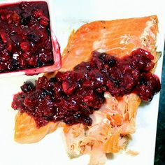 Inspired By eRecipeCards: Cranberry Walnut Sauce on Sugar Cured Salmon - Feeding Larry Pt 4 - Grilling Time Condiments