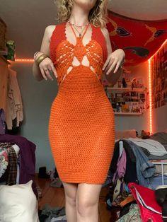 Crochet Fashion, Diy Fashion, Fashion Outfits, Cute Crochet, Knit Crochet, Crotchet, Crochet Clothes, Diy Clothes, Butterfly Dress