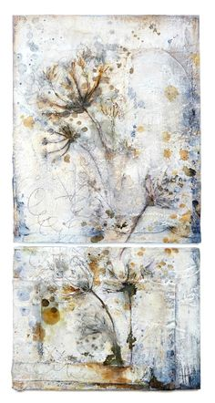 Inflorescence (series)  Mixed media paintings on wood  © 2015 Laly Mille