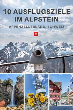 10 Ausflugsziele im Alpstein, Ostschweiz - Reisetipp für die Schweiz inklusive Appenzell und Hoher Kasten Swiss Travel, Reisen In Europa, All Over The World, Switzerland, Travel Inspiration, German, Hiking, Europe, Explore