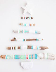 5 tarjetas de Navidad hechas a mano tarjeta-navidad-con-ramas – PequeOcio