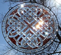 Celtic Stained Glass reflecting the winter light