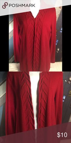 Burgundy Cardigan In very good condition! Sweaters Cardigans
