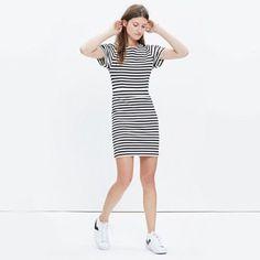 Madewell Striped Biennial Dress. Size 0.